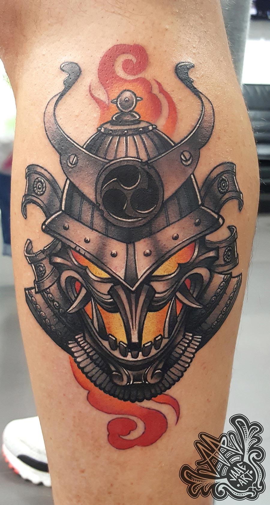 máscara-samurai