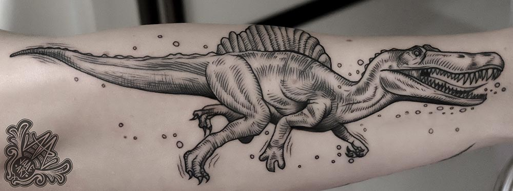 spinosaurus-grabado-etching-dinosaurio-jurasic-dino-dinosaurtattoo