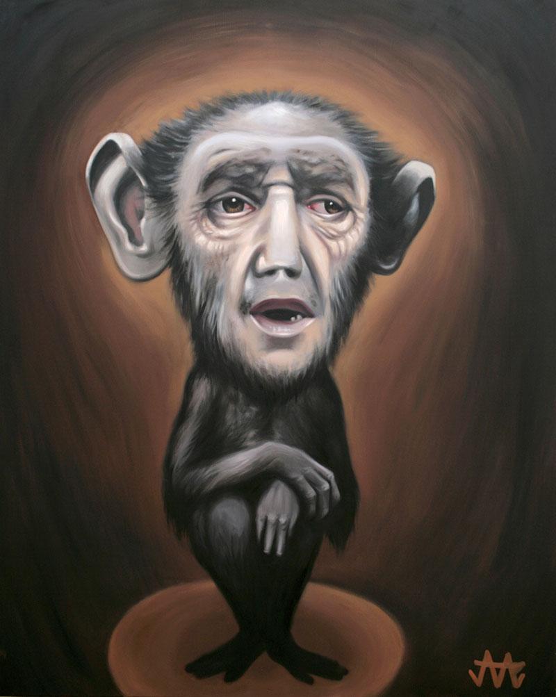 mono hombre