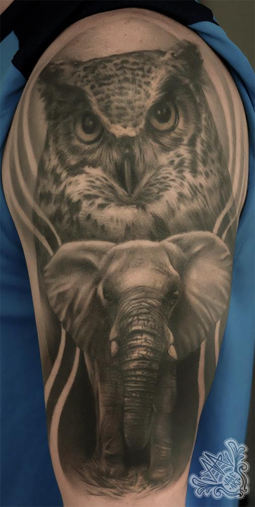 buho-owl-elephant-elefante-elephanttattoo-owltattoo-healed-tattoocurado