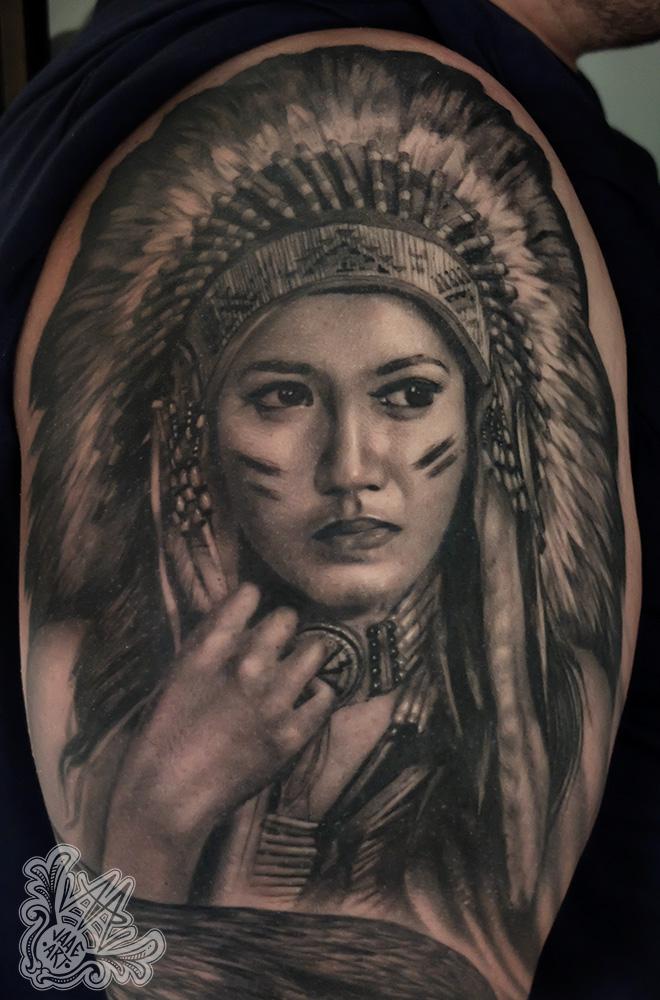 india-nativegirl-nativegirltattoo-healedtattoos-blackandgreytattoos-tenerifetattoos-besttattooartistsofspain-mejortatuador-tatuadorestenerife-tattooindia