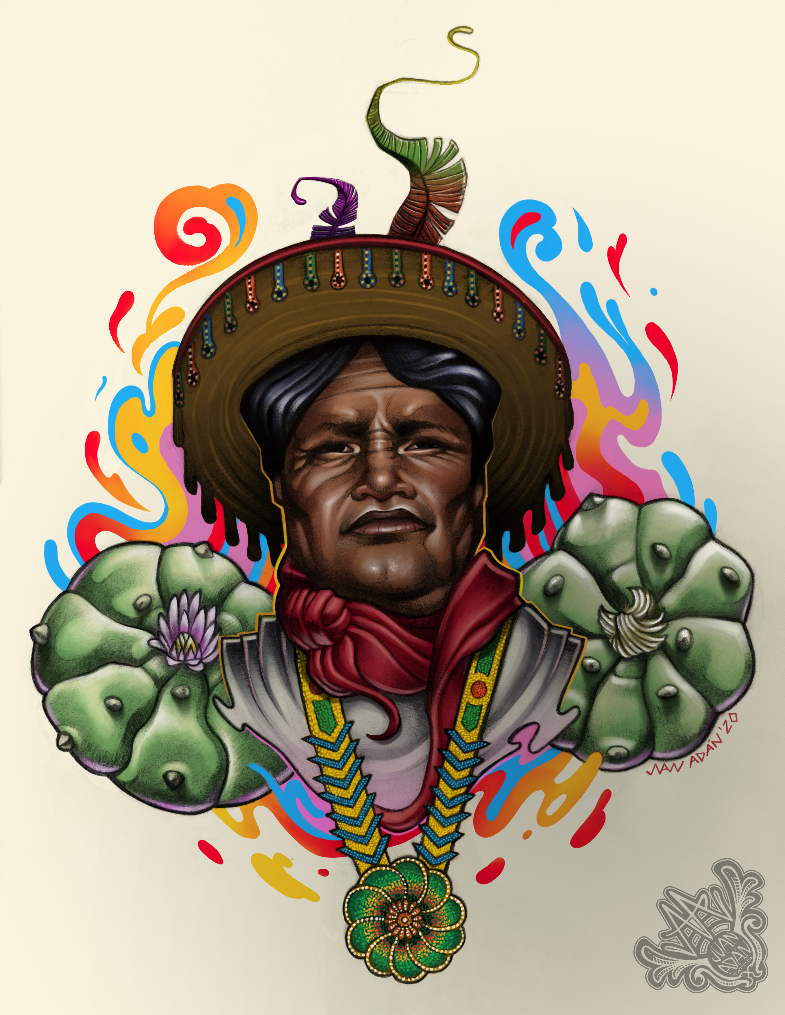 wixarica-huichol-ilustracion-mexico-prehispanico-artesaniahuichol-pueblohuichol-pueblowixarica-wixas